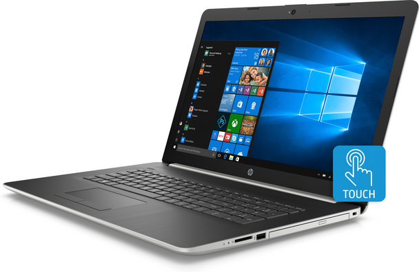 "HP Laptop 17-ca0064cl - AMD Ryzen 5 - 2.00GHz, 12GB RAM, 1TB HDD, 17.3"" Touchscreen, Windows 10 Home"