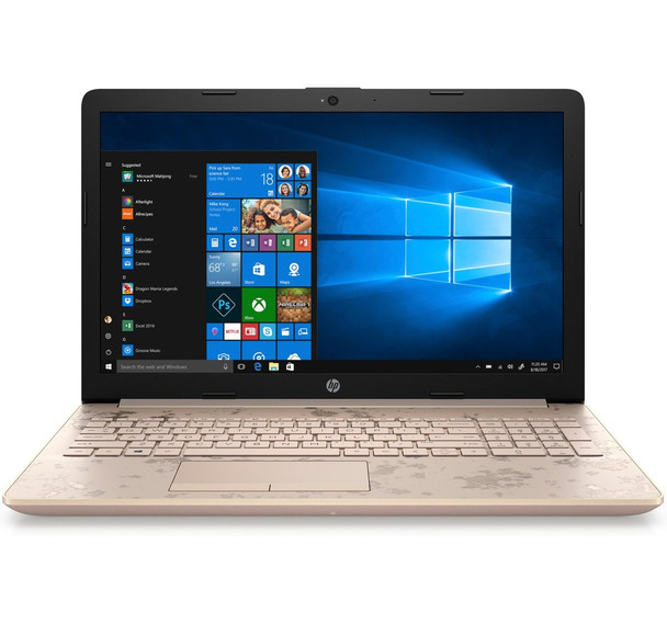 "HP Laptop 15-db0005cy - AMD A9 - 3.10GHz, 8GB RAM, 2TB HDD, Office 365, 15.6"" Display, Gold"
