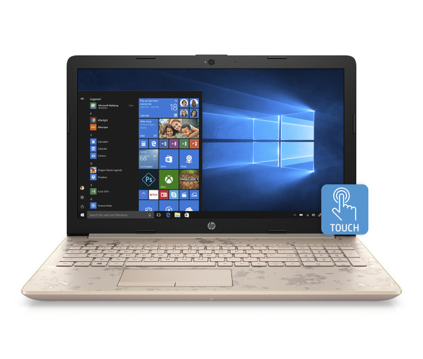 "HP Laptop 15-db0010cy - AMD A9 - 3.10GHz, 8GB RAM, 2TB HDD, 15.6"" Touch, Office 365 1 Year, Gold"