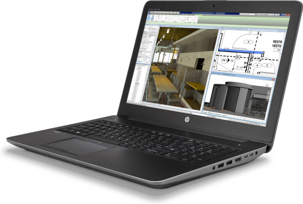 "HP ZBook 15 G4 – 15.6"" WorkStation - Intel i7 - 2.80GHz, 8GB RAM, 1TB HDD, Quadro M1200 4GB, Windows 10 Pro"