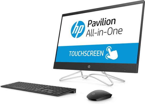"HP All-in-One 24-f0028cy - 23.8"" Touch, AMD A9 -3.10GHz, 4GB RAM, 1TB HDD, Office 365, Black"
