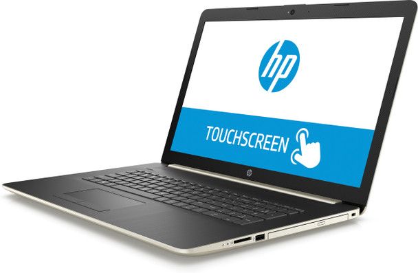 "HP Laptop 17-by0003ds - Intel Pentium, 8GB RAM, 2TB HDD, 17.3"" Touchscreen, Pale Gold"