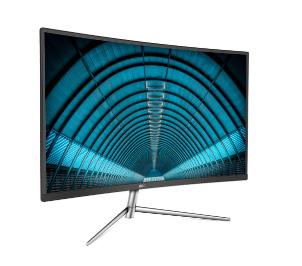 """AOC Value-line C32V1Q  (31.5"""") Full HD LCD Curved Black, Silver Computer Monitor"""