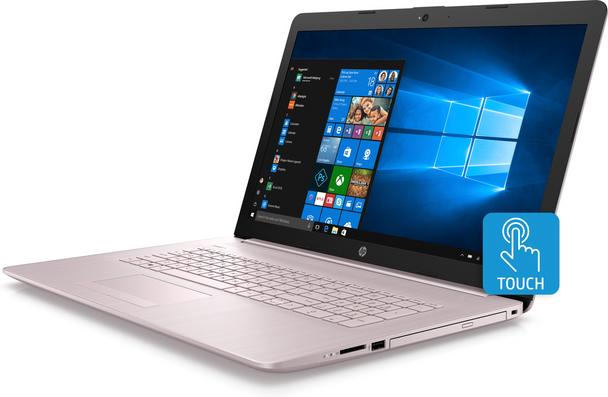 "HP Laptop 17-by0010ds - AMD Ryzen 3 - 2.00GHz, 8GB RAM, 1TB HDD, 17.3"" Touchscreen, Pink"