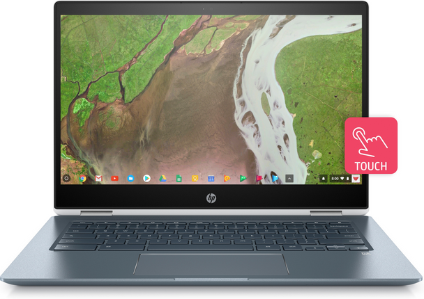 "HP Chromebook x360 14-da0021nr - Intel i3 - 2.20GHz, 8GB RAM, 64GB SSD, 14"" Touchscreen, White"