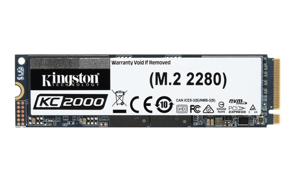 Kingston Technology KC2000 M.2 1TB PCI Express 3.0 3D TLC NVMe Solid State Drive