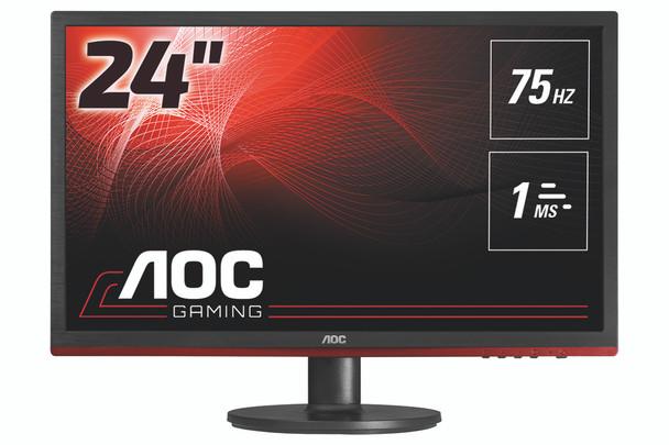 "AOC Gaming G2460VQ6 (24"") Full HD LCD Flat Matt Black LED Computer Monitor"