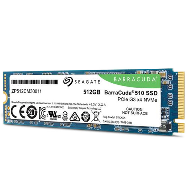 Seagate BarraCuda 510 M.2 512 GB PCI Express 3.0 3D TLC NVMe Solid State Drive