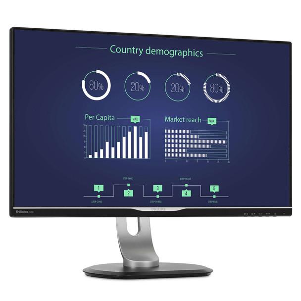 "Philips Brilliance 258B6QUEB (25"") Wide Quad HD LED Flat Black Computer Monitor"