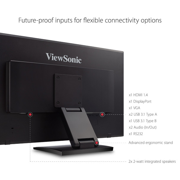 "Viewsonic 27"" 1920x1080 10Pt Touchscreen Monitor"