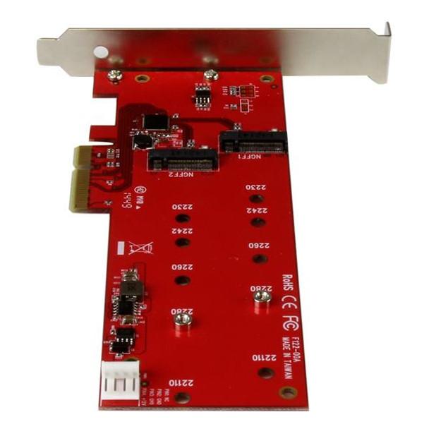 2x M.2 SATA SSD Controller Card - PCIe