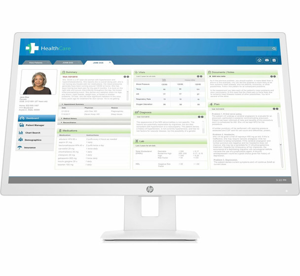 "HP HC271 Healthcare Edition 27"" Computer Monitor White"