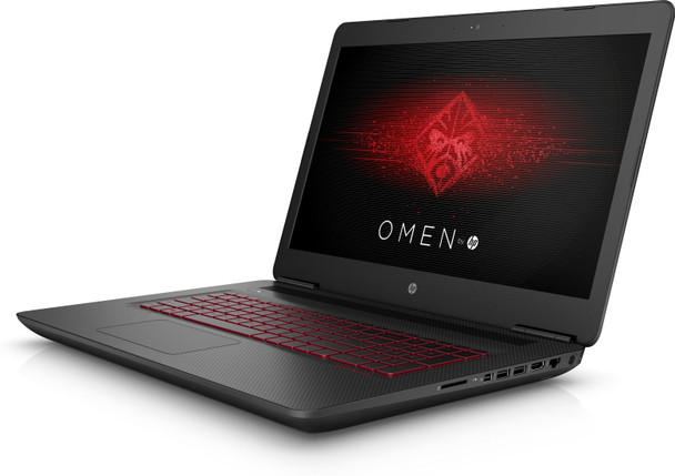 "HP Omen 17-W295MS Gaming Laptop – 17.3"" Display, Intel Core i7 - 2.80GHz, 16GB RAM, 1TB HDD + 256GB SSD, GeForce GTX 1070 8GB, Windows 10, Black"