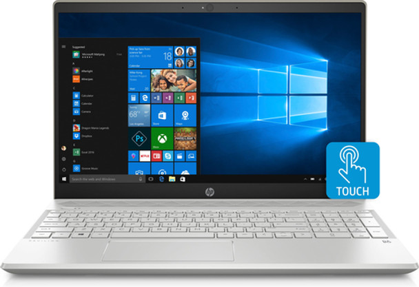 "HP Pavilion Laptop 15-cw0006cy - Office 365 1 Yr, 15.6"" Touch, Ryzen 3 - 2.00GHz, 8GB RAM, 1TB HDD, Pale Gold"