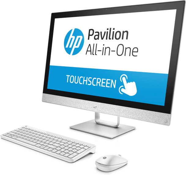 """HP Pavilion All-in-One 27-r039 - 27"""" Touch, Intel i5 - 2.40GHz, 8GB RAM, 16GB Optane, 1TB HDD, White"""