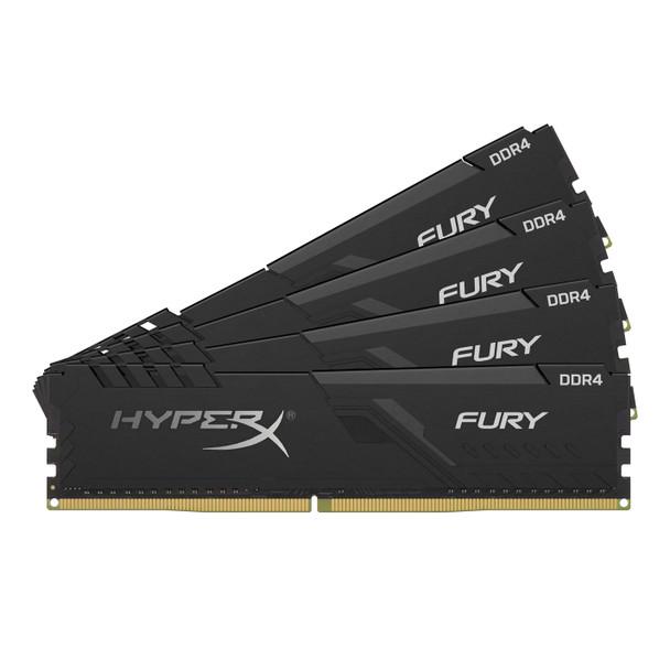 Kingston HyperX FURY Black 64GB 3466MHz DDR4 Cl16 DIMM Kit of 4 Memory Modules