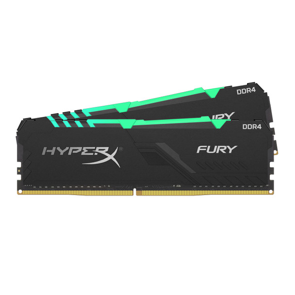 Kingston HyperX FURY RGB 16GB 3466MHz DDR4 Cl16 DIMM Kit of 2 Memory Modules