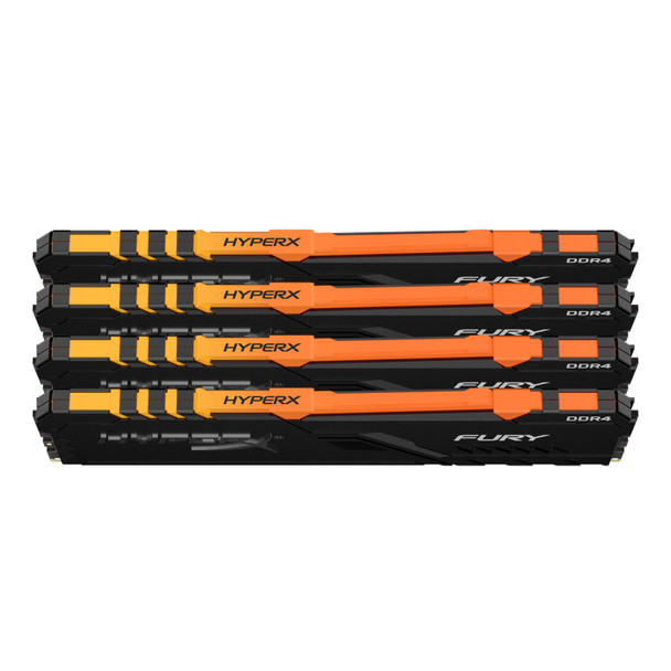 HyperX FURY RGB 64GB 3200MHz DDR4 Cl16 DIMM Kit of 4 Memory Modules