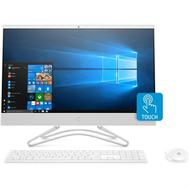 "HP All-in-One 24-f1060 - 23.8"" Touch, Ryzen 5, 8GB RAM, 256GB SSD + 1TB HDD, White"