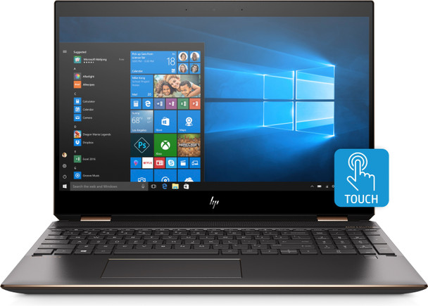 "HP Spectre x360 Convertible 15-df0033dx - Intel i7, 512GB SSD, 16GB RAM, MX150 2GB, 15.6"" 4K Touchscreen, Ash Silver"