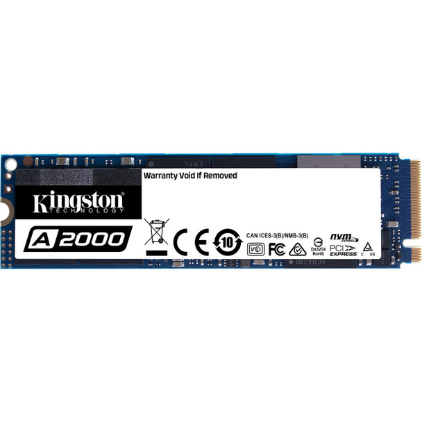 Kingston A2000 M.2 500GB PCI Express 3.0 3D NAND NVMe Solid State Drive
