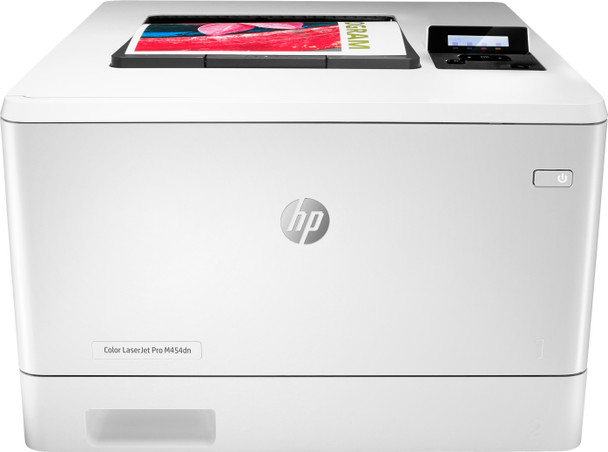 HP Color Laserjet Pro M454dn Printer 28ppm 600x600dpi 300-sheet