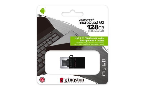Kingston 128gb Dt Microduo 3 Gen2 + Microusb