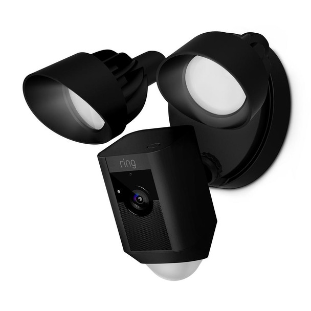 Ring - Floodlight Security Camera - Black