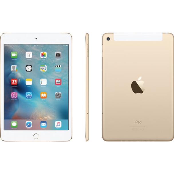 "Apple 128GB iPad Mini 4 - 4G LTE, 7.9"" Touchscreen, Gold - MK7V2LL/A"