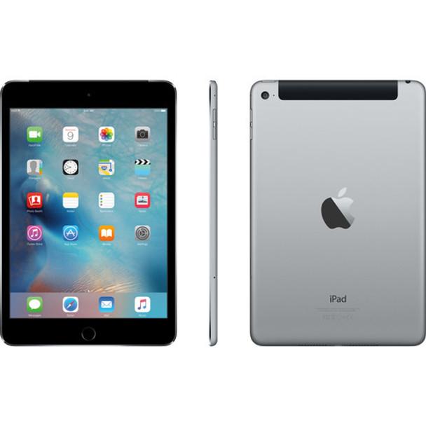 """Apple 128GB iPad Mini 4 -  4G LTE, 7.9"""" Touchscreen, Gray - MK7T2LL/A"""