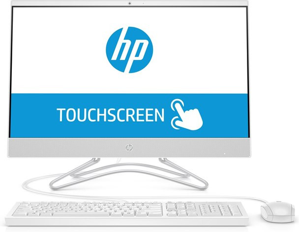 """HP All-in-One 24-df0042ds - 23.8"""" Touchscreen, Athlon 2.40GHz, 8GB RAM, 256GB SSD, Snow White"""