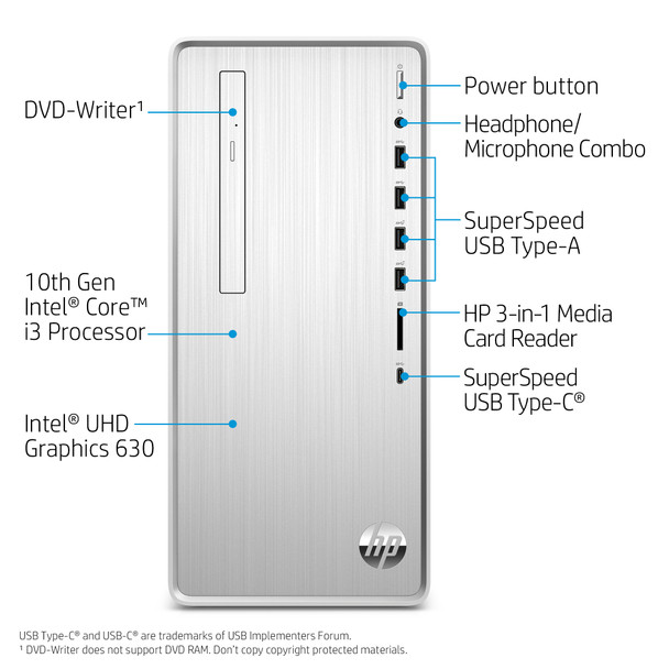 HP Pavilion TP01-1227C Tower, Intel i3 – 3.60GHz, 4GB RAM, 1TB HDD