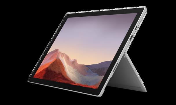 "Microsoft Surface Pro 7 Tablet – Intel i3, 4GB RAM, 128GB SSD, 12.3"" Touchscreen, Windows 10 Pro, Platinum"