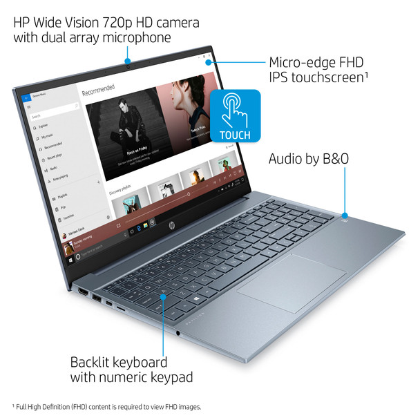 "HP Pavilion Laptop 15-eg0073cl - 15.6"" Touch, Intel i7, 16GB RAM, 512GB SSD, Fog Blue"
