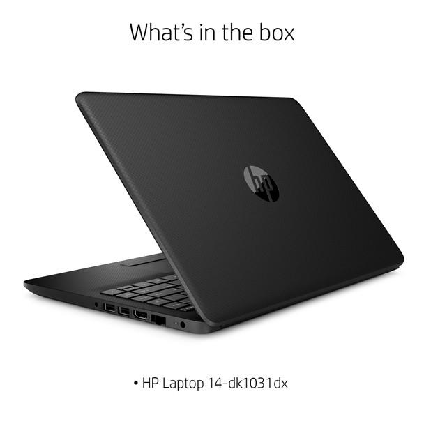 "HP Laptop 14-dk1031dx - 14"" Display, AMD Ryzen 3, 8GB RAM, 1TB HDD, Windows 10 S Mode, Black"