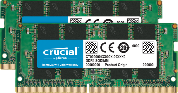 Crucial 32GB Kit of 2 DDR4 3200 SODIMM Memory Modules - CT2K16G4SFRA32A