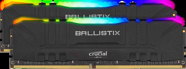 Crucial Ballixtix RGB 2x 8GB (16GB Kit) DDR4 3200 Memory Modules - BL2K8G32C16U4BL