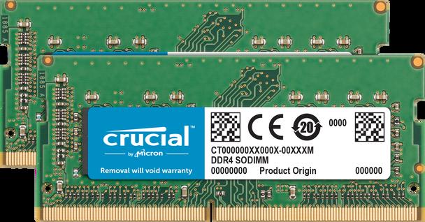 Crucial 32GB (Kit of 2x 16GB) DDR4 2666 SODIMM Memory Modules for Mac - CT2K16G4S266M