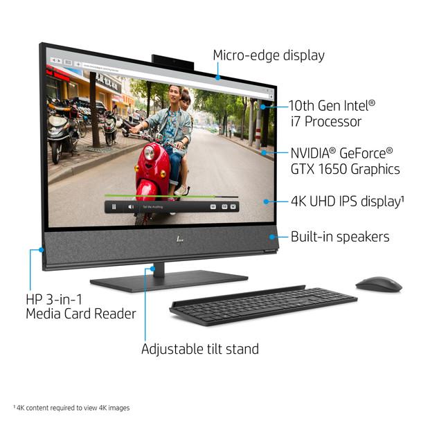 """HP ENVY All-in-One 32-a1027c - 31.5"""" UHD Display, Intel i7, 16GB RAM, 256GB SSD + 1TB HDD, GeForce  GTX 1650 4GB"""