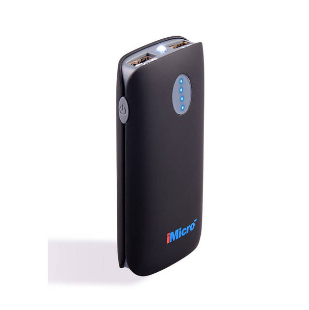 iMicro Mobile Power Source - 5200mAh Lithium-ion Battery Power Bank w/ Flashlight (Black)
