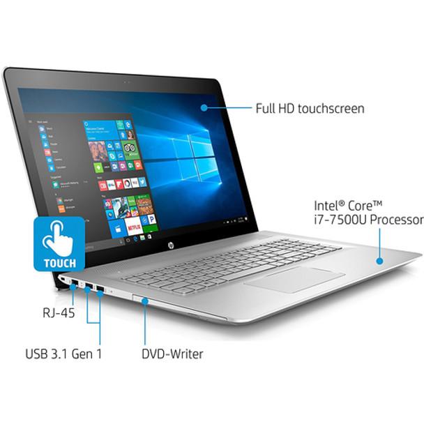 "HP ENVY 17-U110NR Laptop - Intel Core i7 - 2.70GHz, 12GB RAM, 1TB HDD, GeForce GTX 940MX 2GB, 17.3"" Touchscreen"