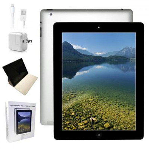 "Apple Ipad 4 - 1GB RAM, 16GB SSD, 9.7"" Touchscreen, Black MD510LLA"