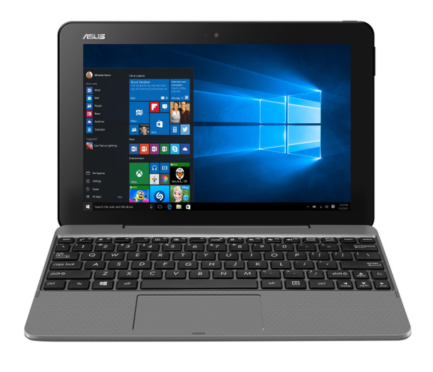Asus Transformer Book, Gray, 10.1 In Touch, Atom Z8350, 4GB RAM, 64GB SSD, Windows 10