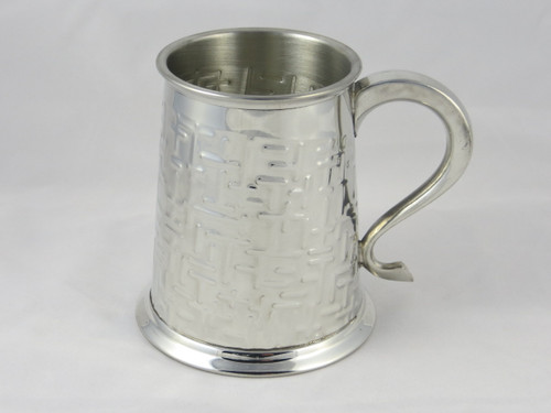 Crafted Cup's Labyrinth pewter tankard front