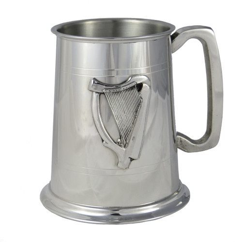Crafted Cup's Irish Harp pewter tankard