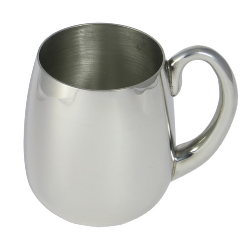 Crafted Cup's Stout pewter tankard white