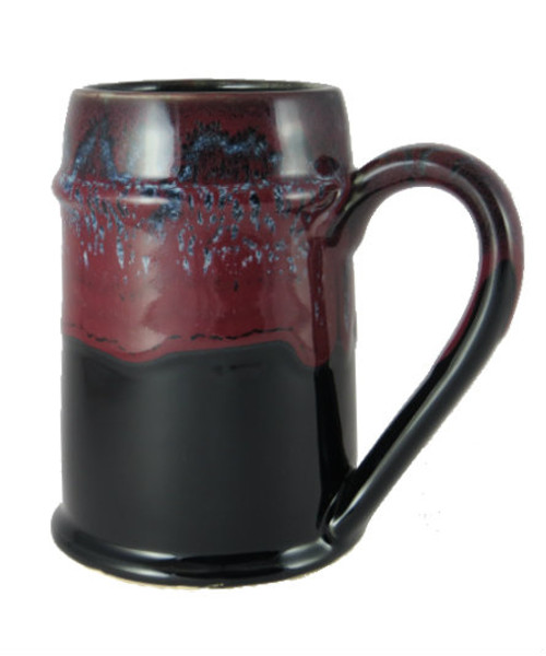 Crafted Cup's black and red 24oz Bavarian stein