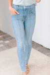 Mother Denim the Seamed Swooner Hover Front View