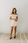 Susana Monaco Ruffle Shoulder Dress