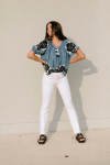 The Great applique floral garland top Outfit View